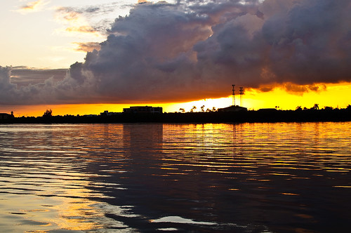 morning water clouds sunrise early florida puntagorda laishleypark
