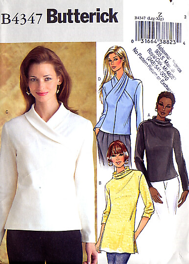 4347 Best Cute Guy Images On Pinterest: Butterick 4347 Long Sleeve Top With Neckline Variations