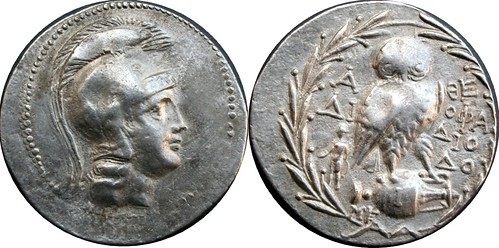 Roman Provinces Tetradrachm, Athens, Athena, Owl on amphora new style, 16g83 AM#05103-17 | by Ahala