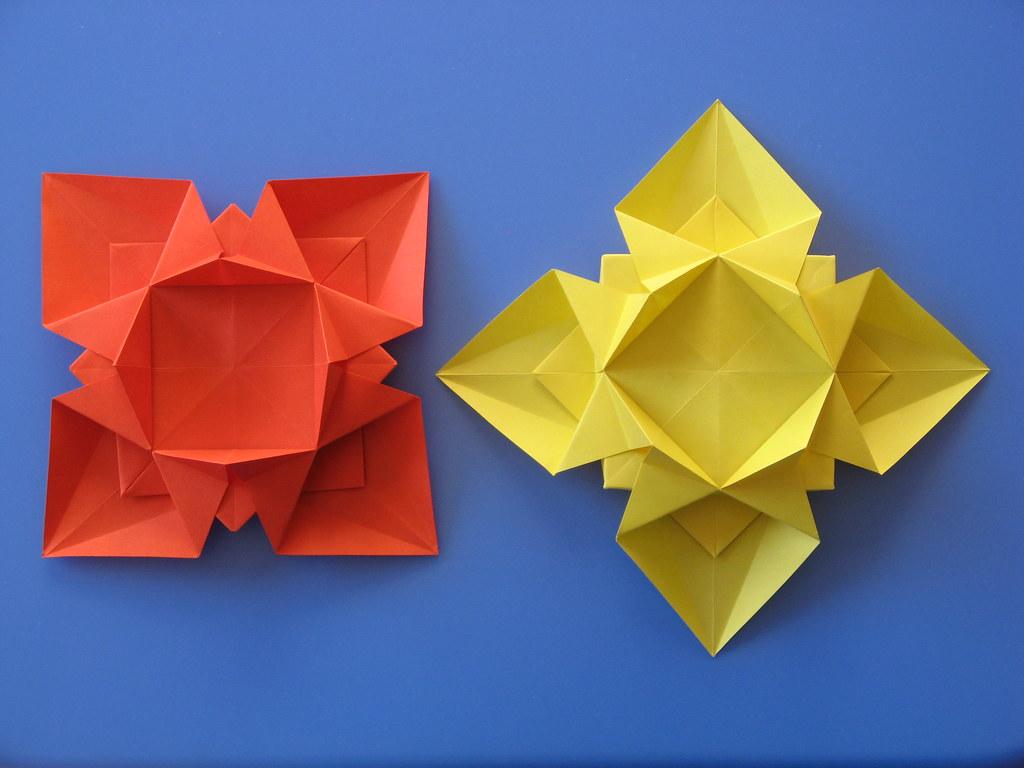 Fiore o stella 3 - Flower or star 3 | Tecnica: origami, con … | Flickr