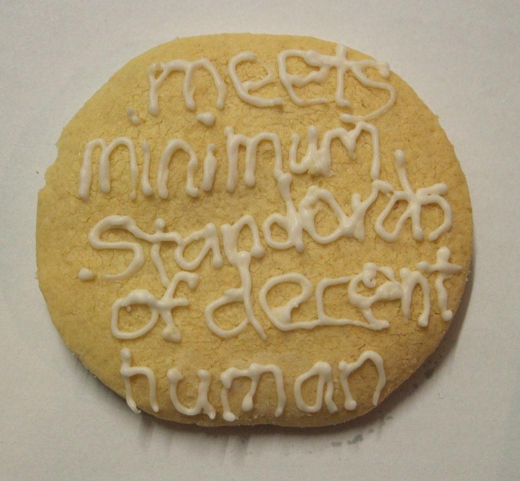 cookie--meets minimum standards