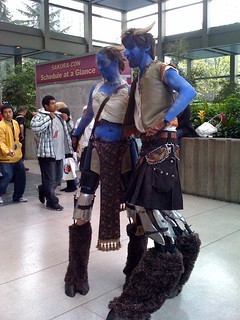 A couple of anime stilt walkers at SakuraCon | by Joseph Heck