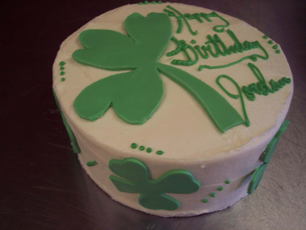 Astonishing Irish Birthday Cake Carolina Cakes Confections Green Vel Flickr Birthday Cards Printable Riciscafe Filternl
