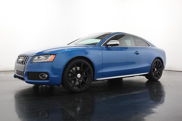 2012 Audi S5 Blue Black Rims