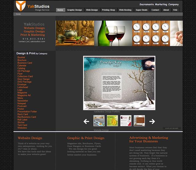 Yak Studios Homepage - version 5.0