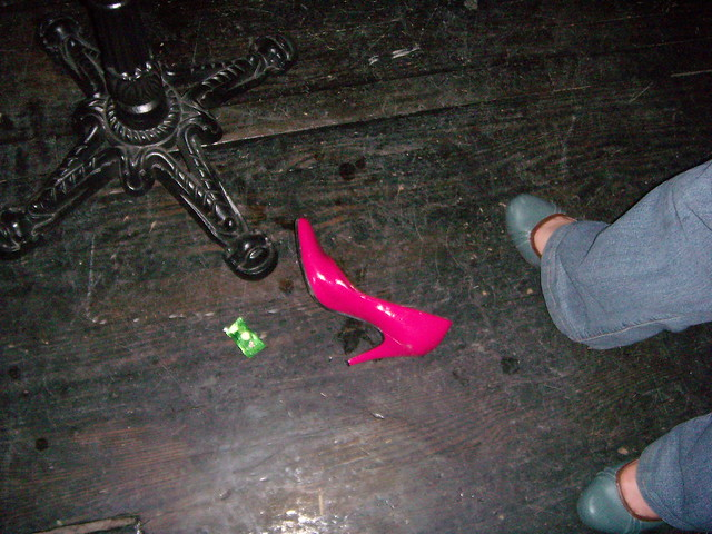 i abandoned my shoe when leyda came in