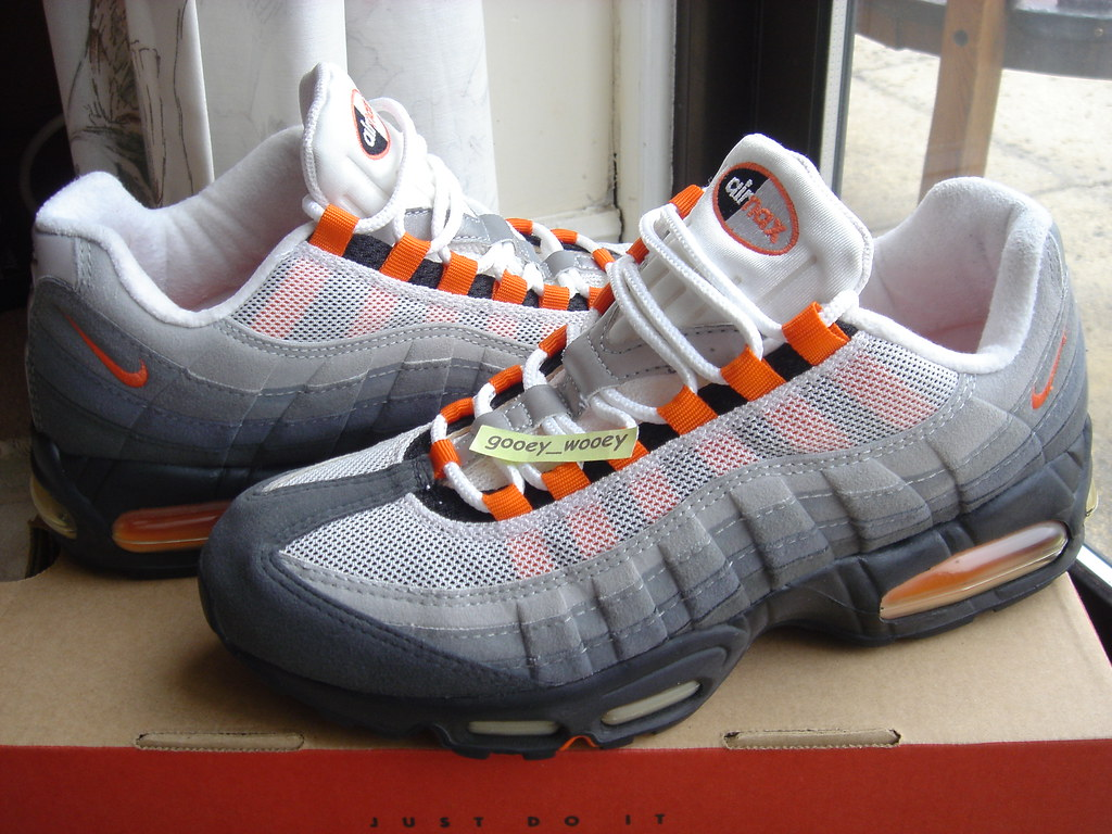 official photos dd426 f2932 Nike Air Max 95 SC Black / Safety Orange - White (604069 0 ...