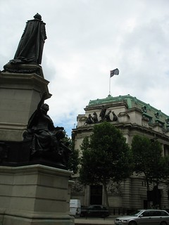Prime Minister William Gladstone Statue in front of St. Clement Danes & Australia House, Strand, London