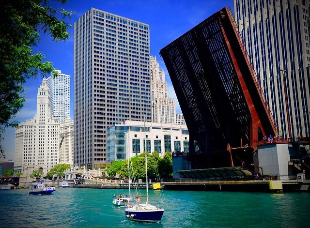 Columbus Drive - Explore 7-3-2015 #45 - Bridge Up - Chicago IL
