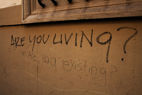 An image of graffiti spotted in Florence.