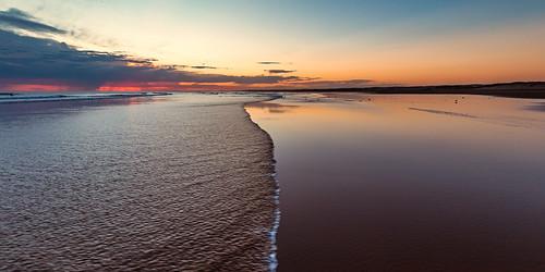 australia au newsouthwales nsw portstephens annabay birubi birubibeach birubipoint beach stocktonbeach sea ocean wave waves sandbar sand seaside shore coast sunset canoneos6d canonef1635mmf4lisusm
