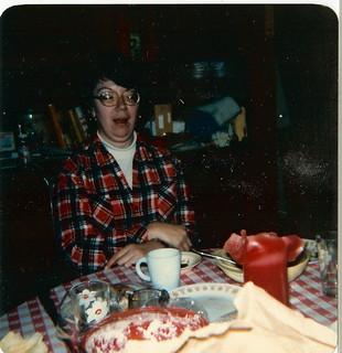 Marie Brackbill at the kitchen table