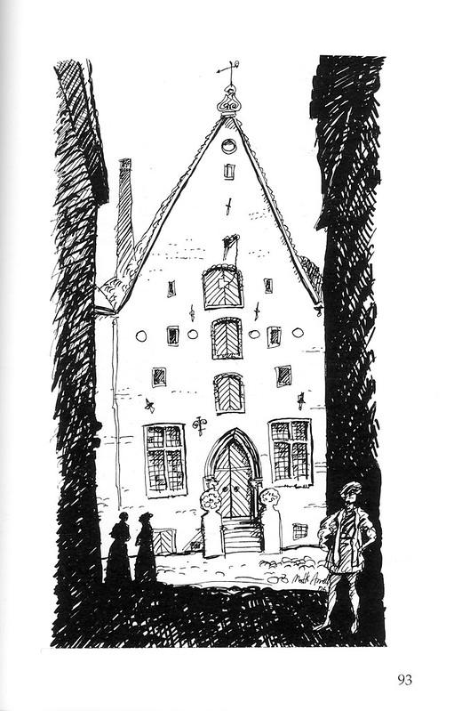 Tallinn street view,  illustration 2006