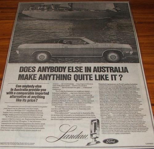 1974 Ford Landau Hardtop Coupe Ad