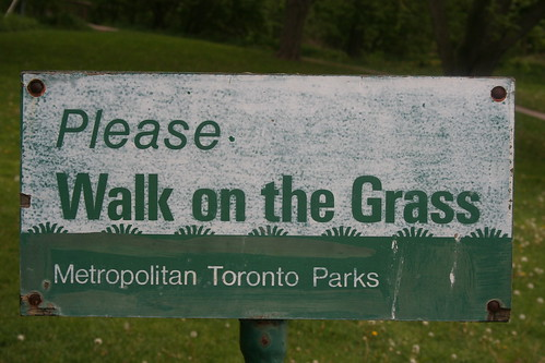 Pedestrian Sign, Taylor Creek Park, Toronto_1172 | by Bobolink