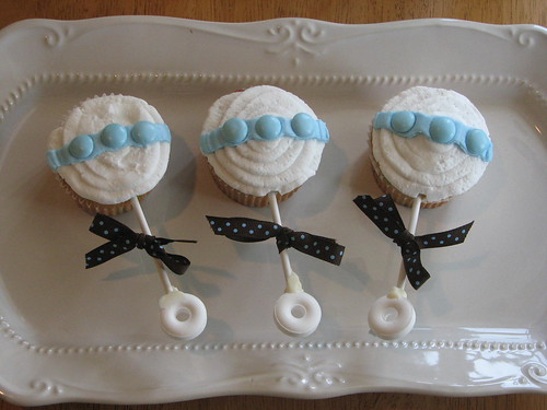 Baby Rattle Cupcakes | by how sweet it is