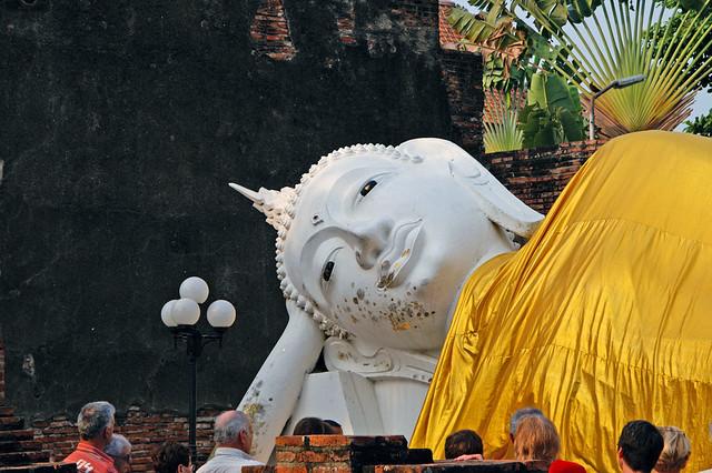 Reclining Buddha at Wat Yai Chai Mongkol near Ayutthaya, Thailand