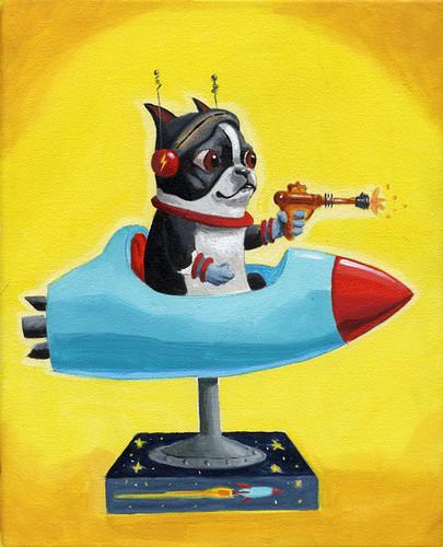 Boston terrier rocket