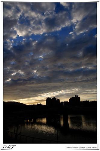 sunset bluesky kaohsiung loveriver 愛河之心