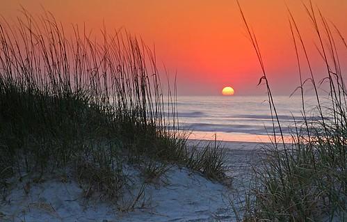 beach sunrise northcarolina atlantic wrightsvillebeach shellisland