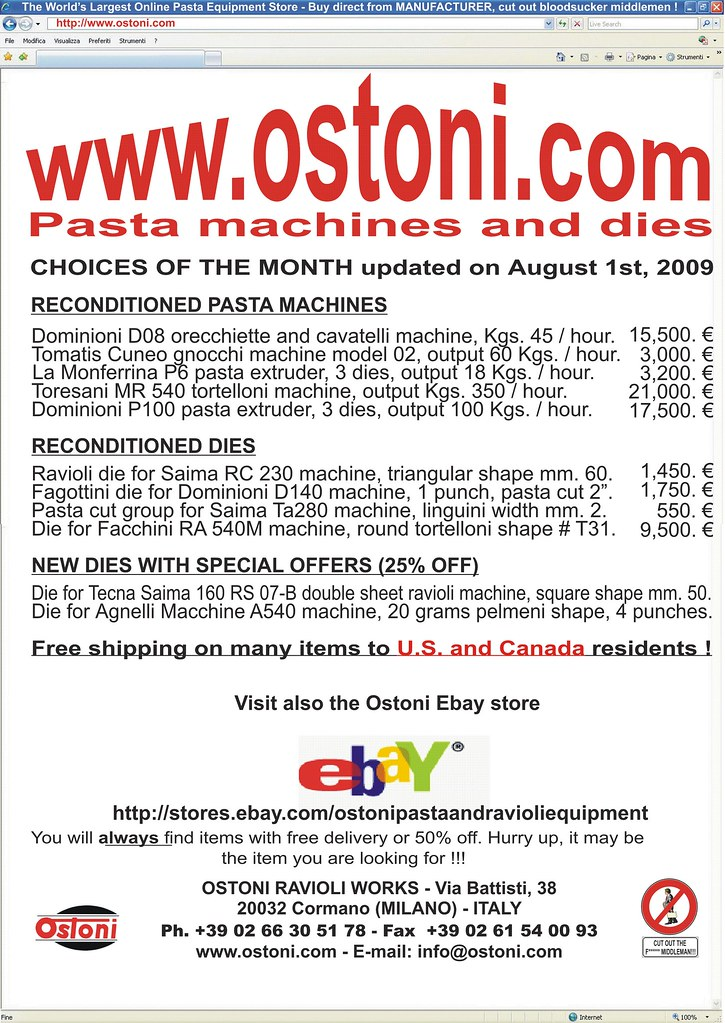 Pasta Machines And Dies Pasta Machines Choices Of The Mo