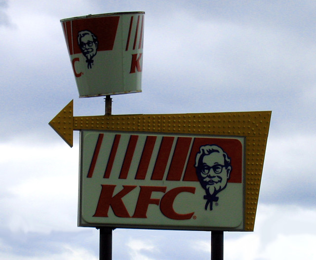 Old & New Kentucky Fried Chicken Sign