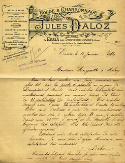 Forge et charronnage Jules Daloz à Essia
