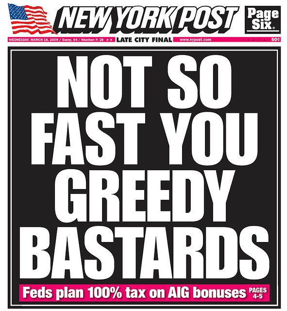 Feds Release New Guidance On 504 >> Not So Fast You Greedy Bastards New York Post 3 18 09 Flickr