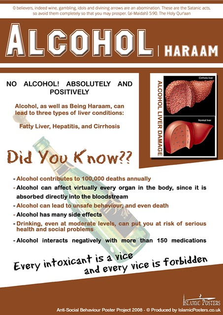 Islam Says No to Alcohol Poster by Islamic Posters | Flickr