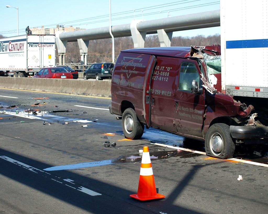 Accident on the George Washington Bridge, New York City   Flickr