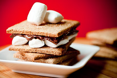 S'mores with Homemade Graham Crackers and Dandies   by teenytinyturkey