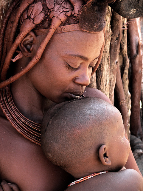 Mother&son. Himba Tribe. Namibia