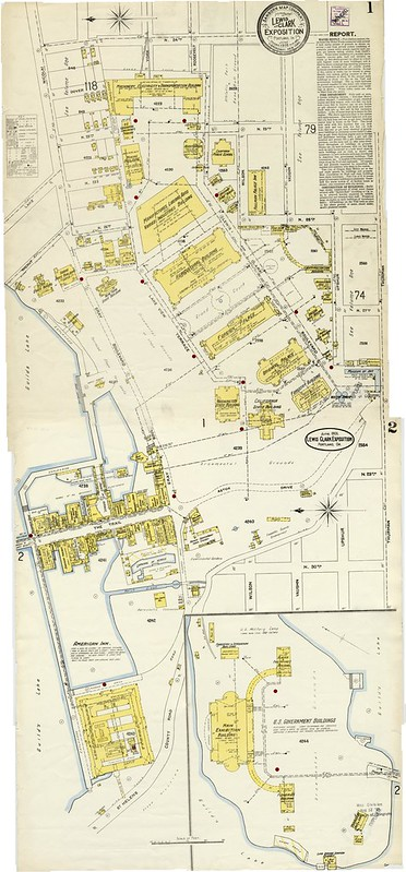 Map of 1905 Lewis and Clark Centennial Exposition
