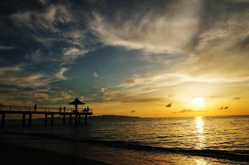 blue sunset sea summer sky orange cloud beach japan landscape nikon 日本 okinawa 夏 雲 夕日 海 空 青 風景 ishigaki オレンジ 石垣島 d300 ビーチ yaeyama 八重山 fusaki 八重山諸島 フサキ