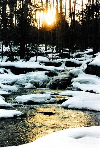 winter sunset snow ny water waterfall falls minnie bethel smallwood