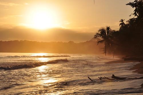 Golden sunrise in Cahuita, Costa Rica | by Armando Maynez