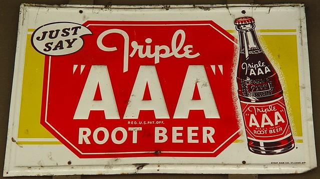 Triple Aaa Number >> Old Triple Aaa Root Beer Sign Cracker Barrel Restaur Flickr