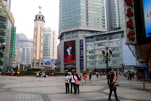 liberation monument, chongqing | by hopemeng