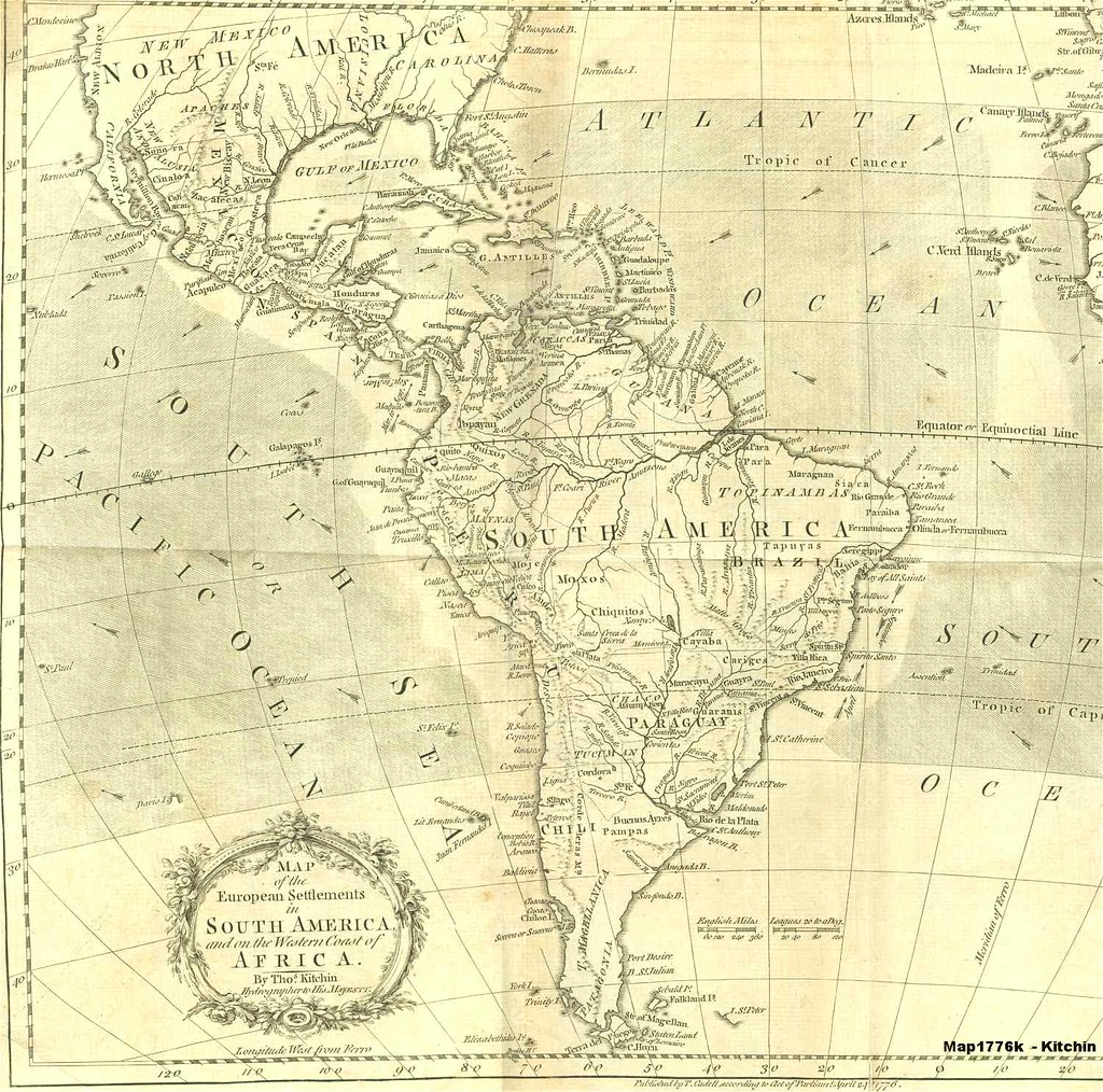 South America old map (1776) | (98) By Thomas Kitchin | Flickr