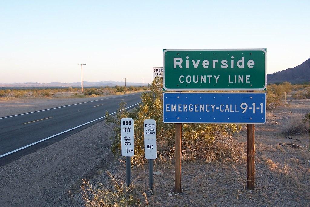 Riverside County Line   Entering Riverside County from San B…   Flickr