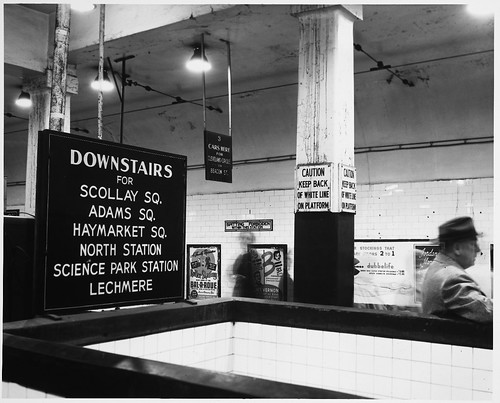 Direction, Information, and Warning Signs, Park Street Subway Station, Interior | by MIT-Libraries