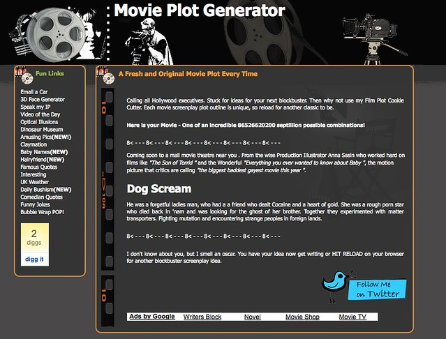 My Next Blockbuster from the Movie Plot Generator | You have