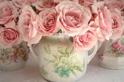 Vintage Floral China Bouquets