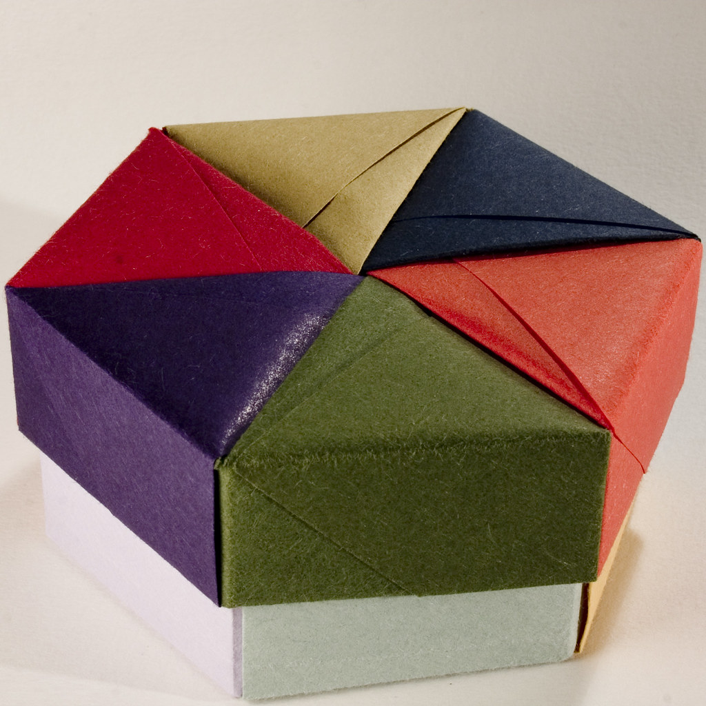 Decorative Hexagonal Origami Gift Box With Lid 05 Flickr
