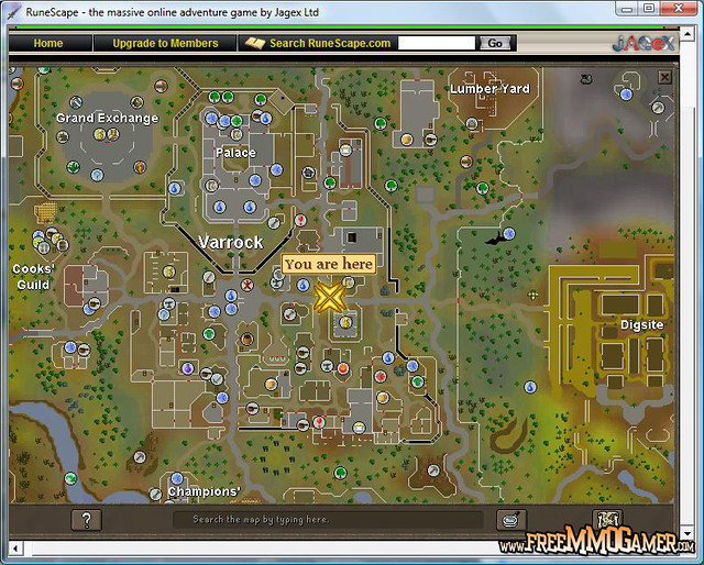 Runescape Map Screenshot   RuneScape is a free to play MMORP ...