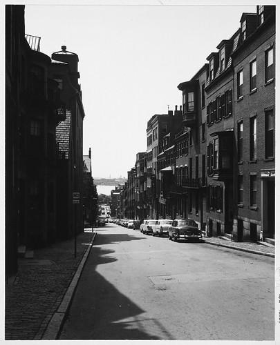 Beacon Hill, Pinckney Street, Brick Row Houses And Apartme