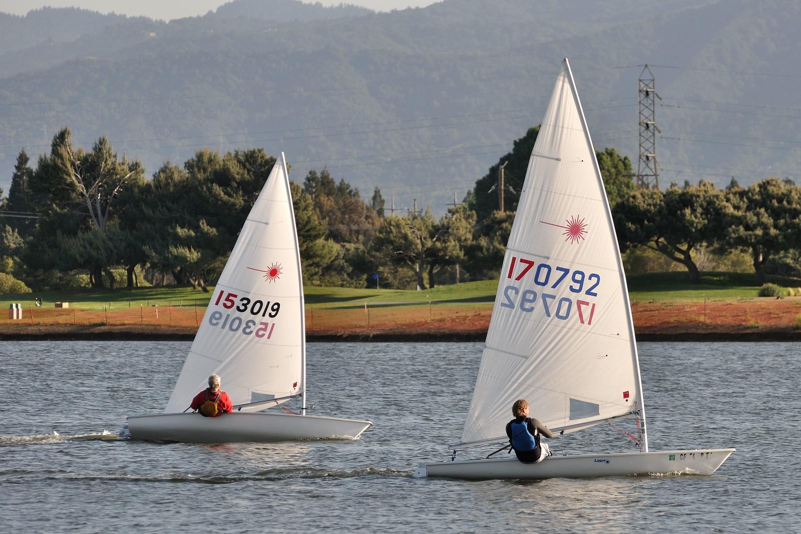 Sailing on Shoreline Lake