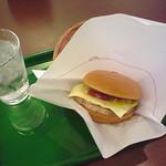 Cheese burger from Mos Burger @ Asakusa