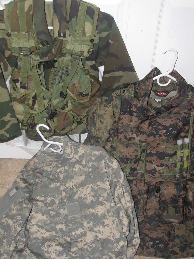Camo patterns | These are the three camo patterns that I own