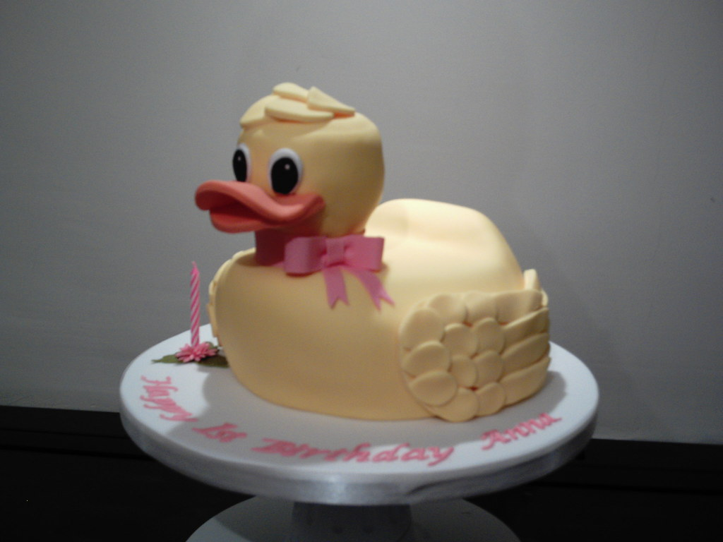 Magnificent Rubber Duck Birthday Cake For Annas 1St Birthday Flickr Funny Birthday Cards Online Alyptdamsfinfo